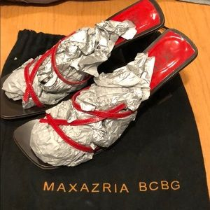 BCBG Max Azria Red Heels 8 Dust Bag